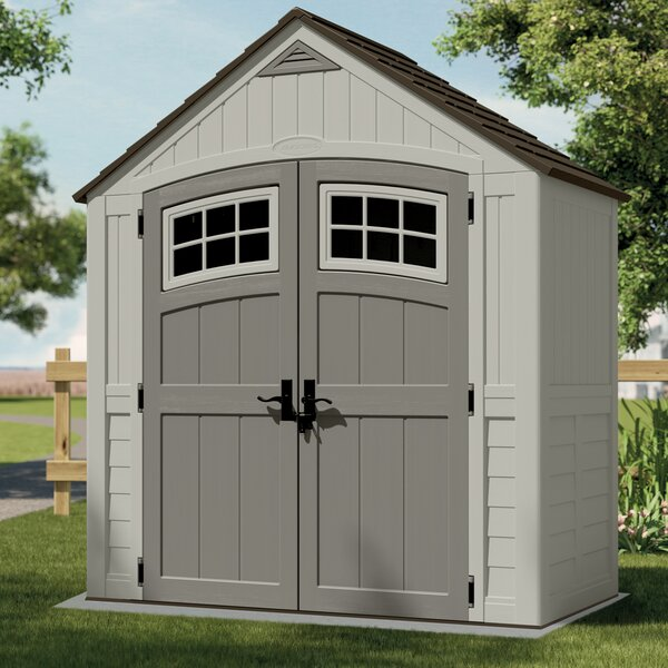 Cascade 7 ft. 5 in. W x 3 ft. 11 in. D Plastic Storage Shed by Suncast