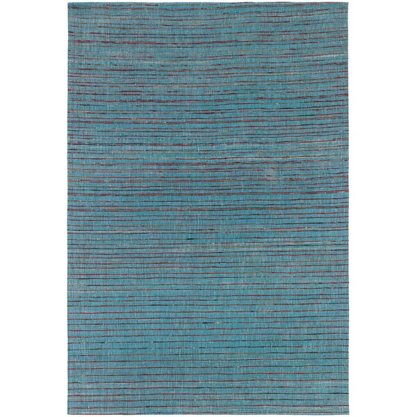 Cabarley Dhurrie Blue Area Rug by Latitude Run