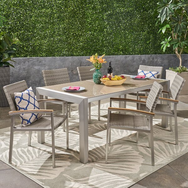 Boltongate Outdoor 7 Piece Dining Set by Ivy Bronx