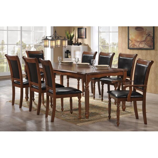 Nadine Traditional 9 Piece Dining Set by Canora Grey