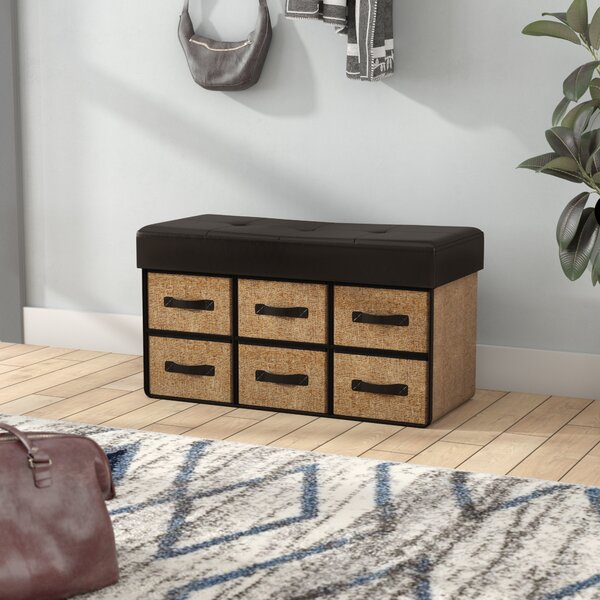 Bhadra Folding Wood Storage Bench by Ebern Designs
