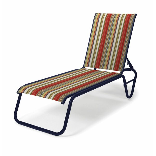 Gardenella Sling Four-Position Lay Flat Reclining Chaise Lounge by Telescope Casual Telescope Casual
