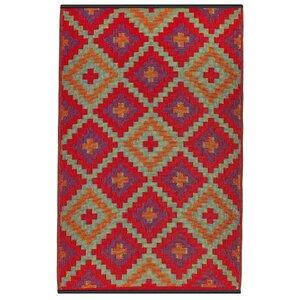 Patterson Hand Woven Red/Purple/Orange Indoor/Outdoor Area Rug