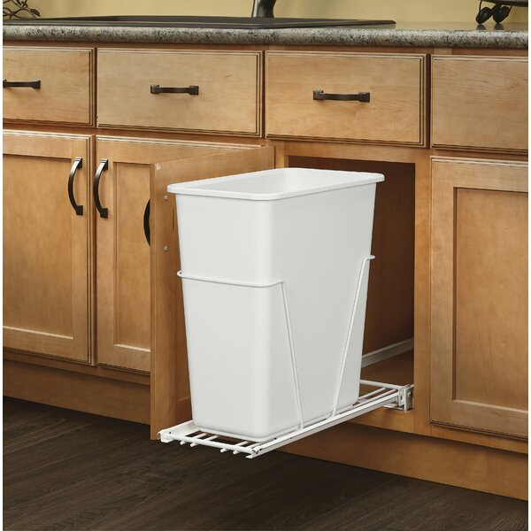 7.5 Gallon Pull Out/Under Counter Trash Can by Rev-A-Shelf