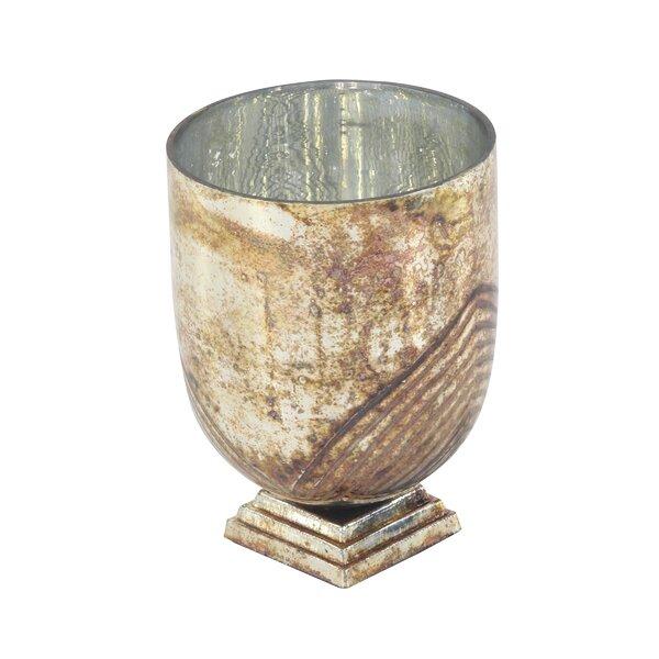 Rustic Glass Hurricane by Charlton Home