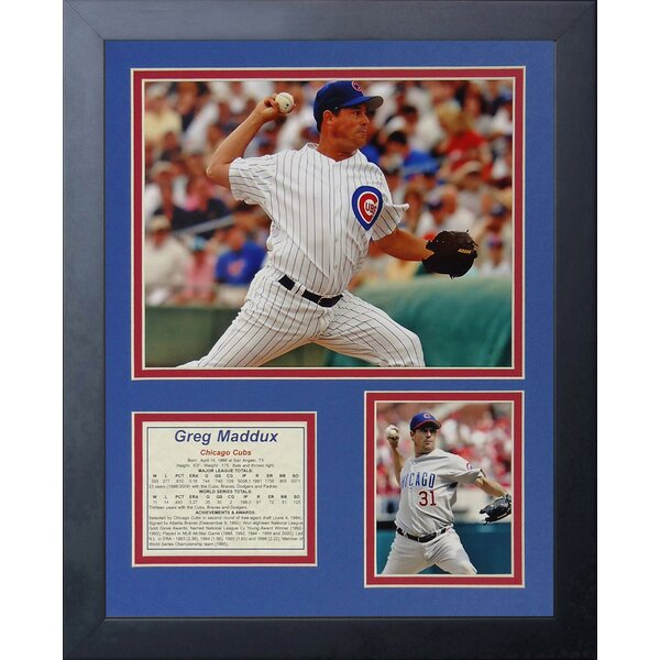 Greg Maddux Framed Photographic Print by Legends Never Die