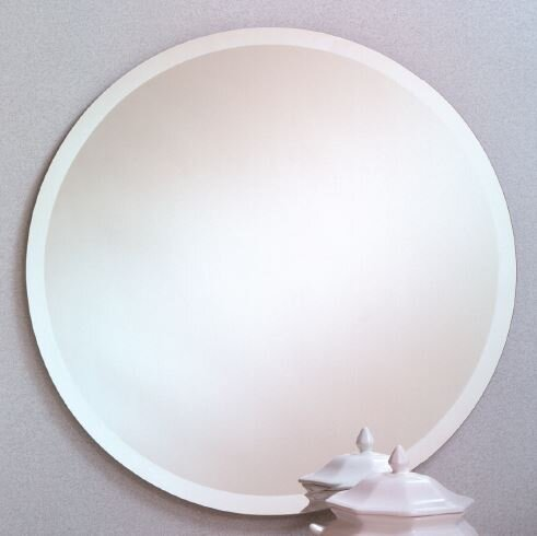 Printers Row Contemporary Beveled Edge Round Wall Mirror by Orren Ellis