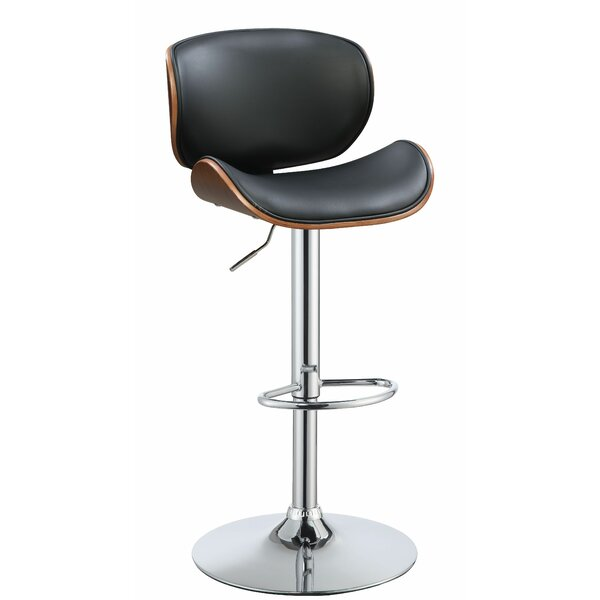 Broseley Adjustable Height Swivel Bar Stool by Corrigan Studio Corrigan Studio