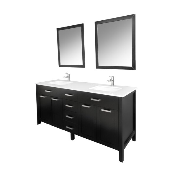 Drake 60 Double Bathroom Vanity Set with Mirror by Brayden Studio