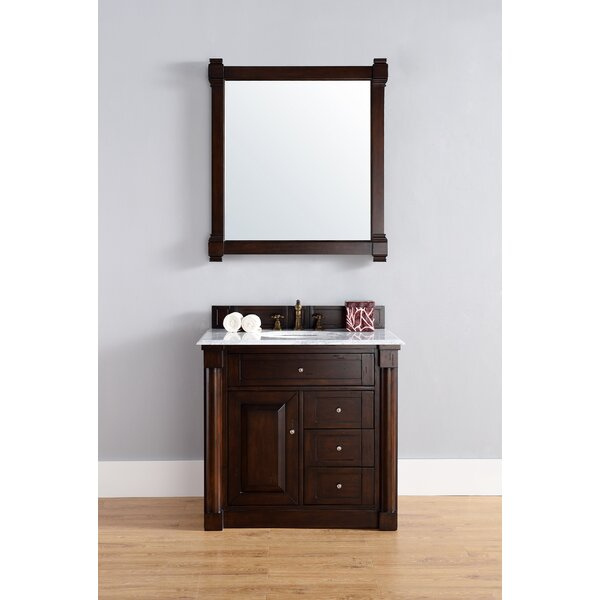 Maurice 36 Double Burnished Mahogany Bathroom Vanity Set by Alcott Hill