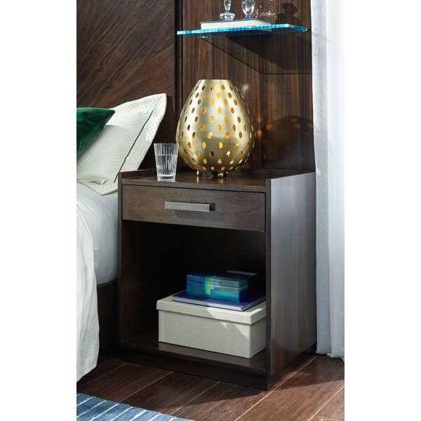 Sallie Open 1 Drawer Nightstand by Brayden Studio