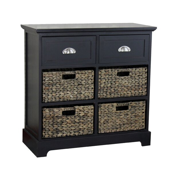 Fleming 2 Drawer 4 Basket Accent Chest by Beachcrest Home