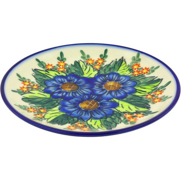 Bouquet Polish Pottery Decorative Plate by Polmedia
