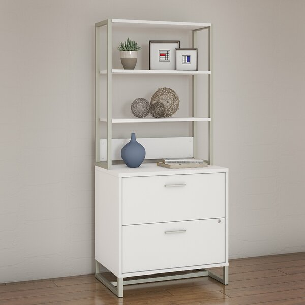 Method 2 Drawer Lateral Filing Cabinet with Hutch by Kathy Ireland Office by Bush