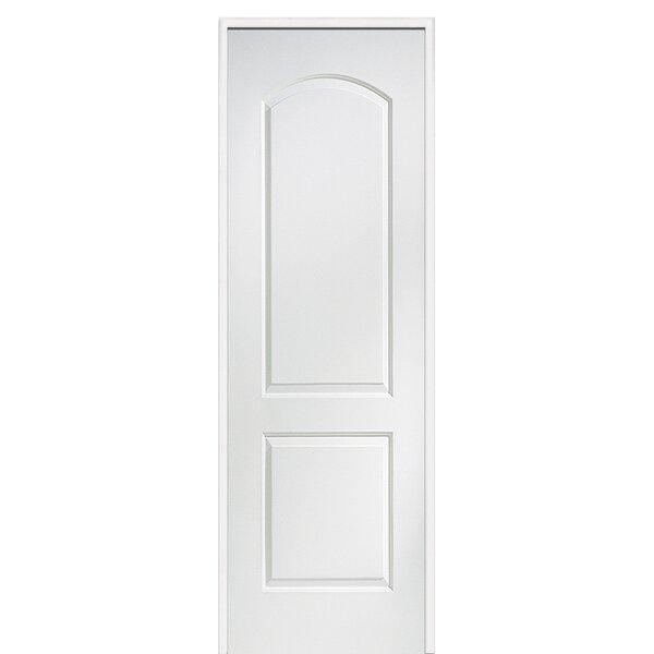 Caiman Arch Top Primed Single MDF Panelled Prehung Interior Door by Verona Home Design