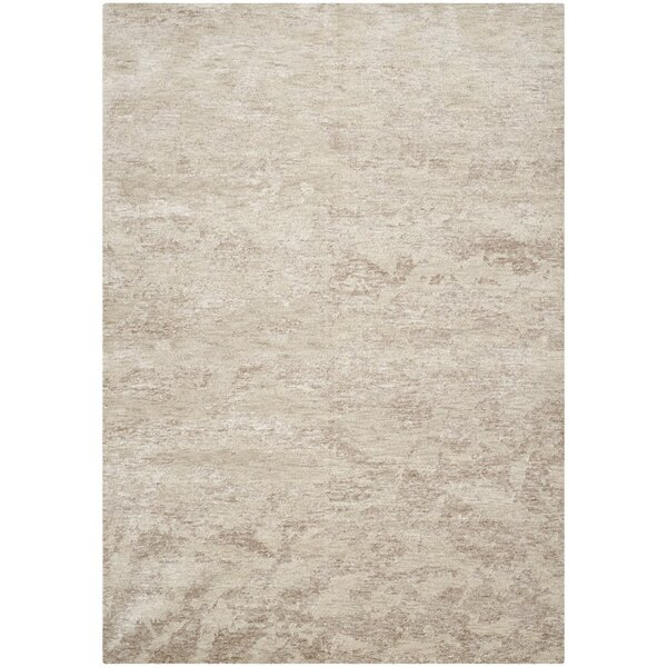 Armstrong Hand-Knotted Brown/Moss Area Rug by Orren Ellis