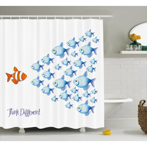 Think Different Decor Shower Curtain by East Urban Home