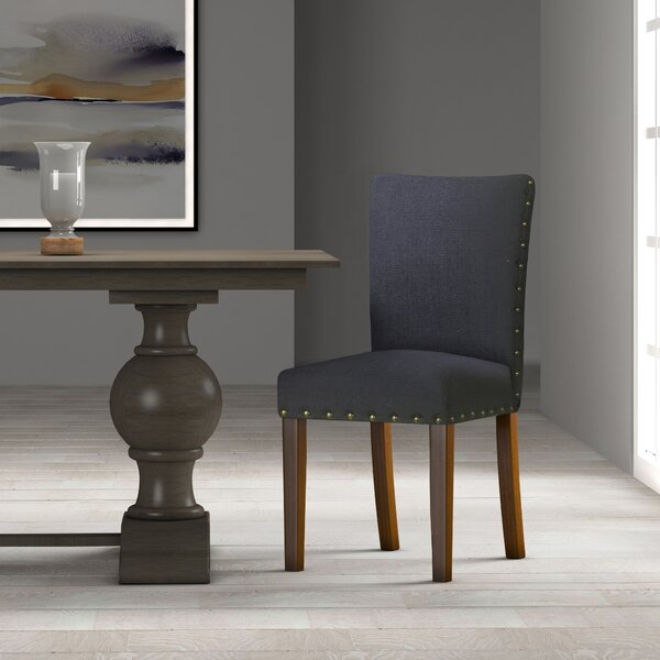 Saxis Upholstered Dining Chair (Set of 2) by Beachcrest Home Beachcrest Home