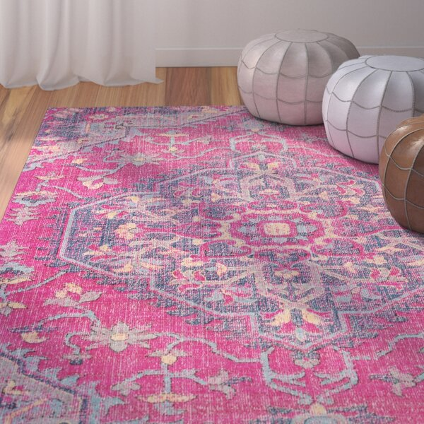 Randhir Pink/Purple Area Rug by Bungalow Rose