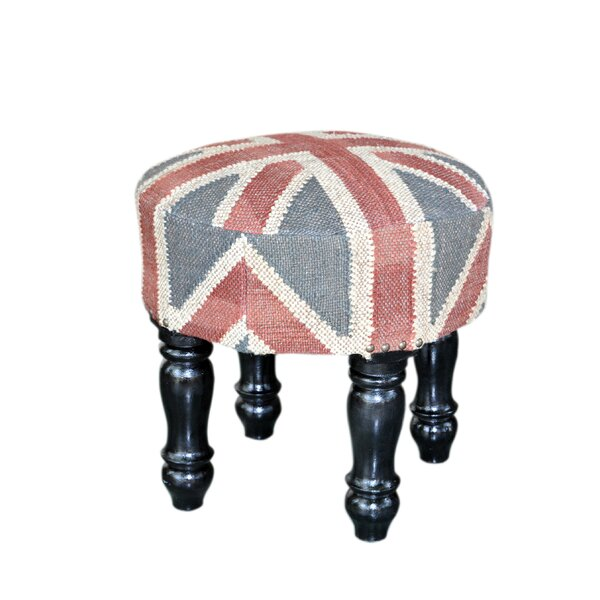 Wooden Upholstered Ottoman by Divine Home