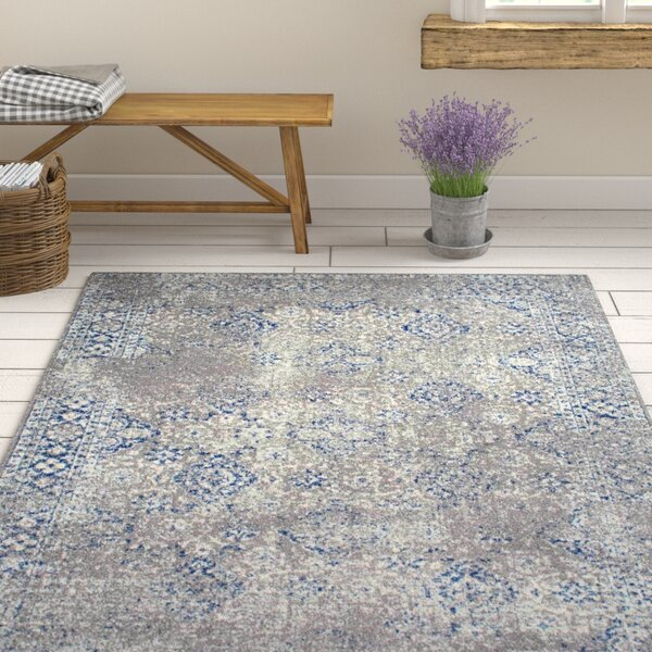 Avallon Faded Dark Blue Area Rug by One Allium Way