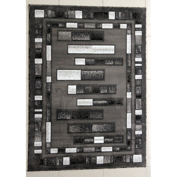 McGeHee Dark Gray Area Rug by Ebern Designs