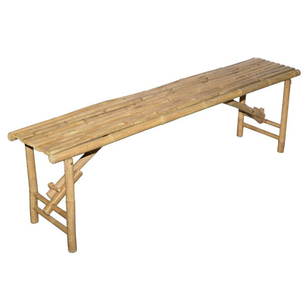 Mathiatis Folding Wood Bench by World Menagerie World Menagerie