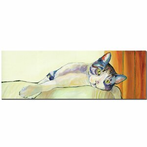 Sunbather by Pat Saunders-White Framed Painting Print on Wrapped Canvas by Trademark Fine Art