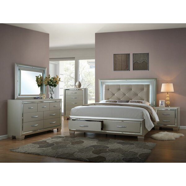 Lawlor Queen Platform 4 Piece Bedroom Set by Rosdorf Park