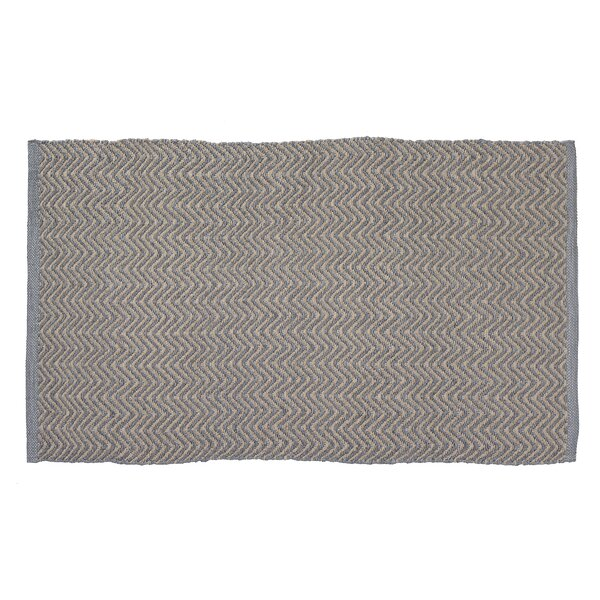 Herringbone Hand-Woven Beige/Gray Indoor/Outdoor Area Rug by Home Furnishings by Larry Traverso