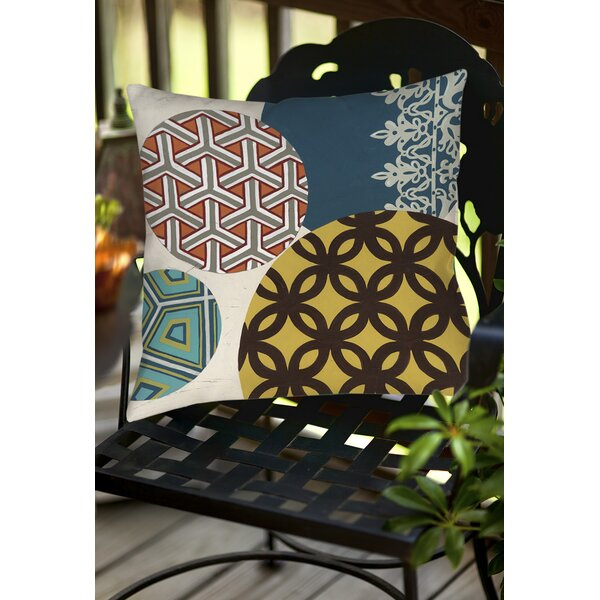 Paper Lanterns 1 Indoor/Outdoor Throw Pillow by Manual Woodworkers & Weavers