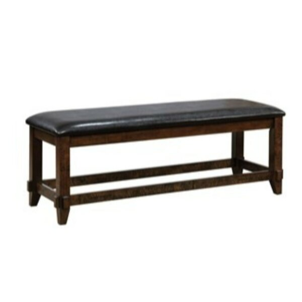 Mahle Padded Leather Bench by Millwood Pines