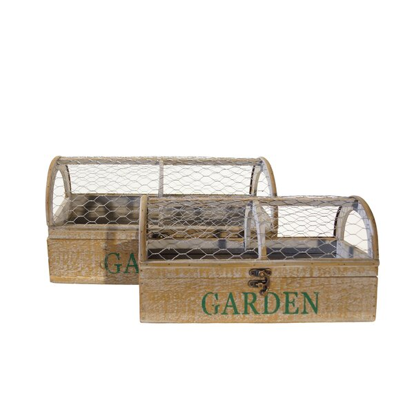 2 Piece Wood Planter Box Set by American Mercantile