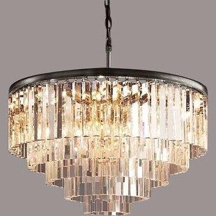 round light fixture small downey round 25light chandelier light fixture wayfair