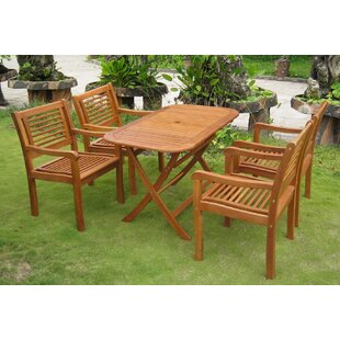 Sabbattus Sitges 5 Piece Dining Set By Breakwater Bay