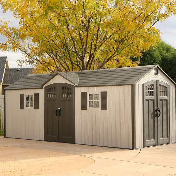 20 ft. W x 8 ft. D Plastic Storage Shed by Lifetime