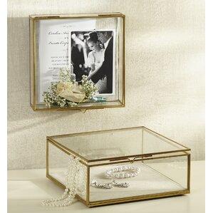 Glass Shadow Decorative Jewelry Box (Set of 2) by Mud Pie?