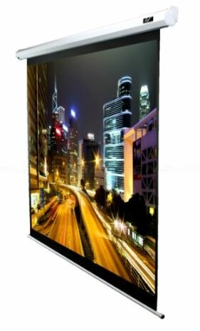 VMAX2 Series White Electric Projection Screen by Elite Screens
