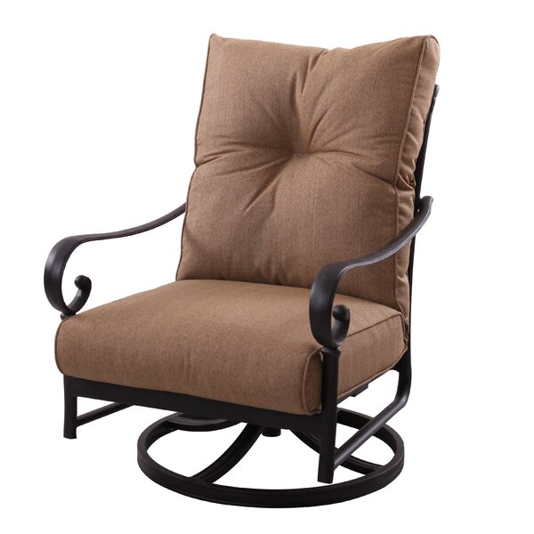 Carlitos Deep Seating Swivel Rocking Chair with Cushions by Darby Home Co