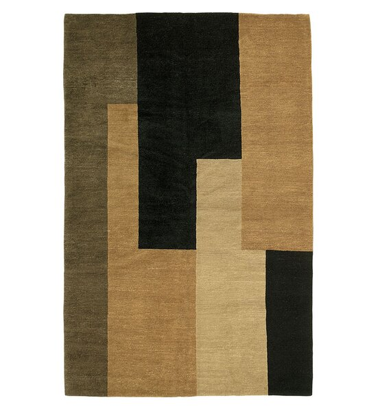 Core Hand-Knotted Wool Black/Brown Area Rug by Artisan Carpets