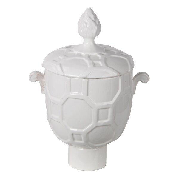 White Vase With Lid Wayfair