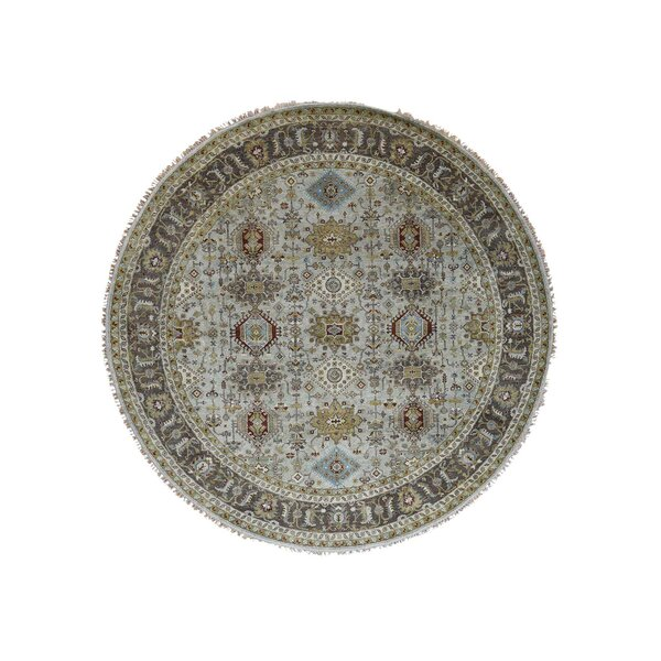 One-of-a-Kind Newhouse Silver Oriental Hand-Knotted Gray Area Rug by Astoria Grand