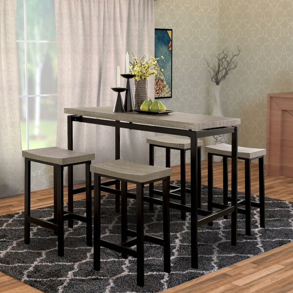 Mounce Wooden 5 Piece Pub Table Set by Latitude Run