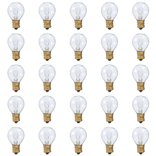 10W E17 Dimmable Incandescent Light Bulb (Set of 25) by Bulbrite Industries