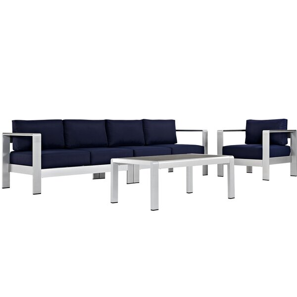 Coline 4 Piece Sofa Set with Cushions by Orren Ellis