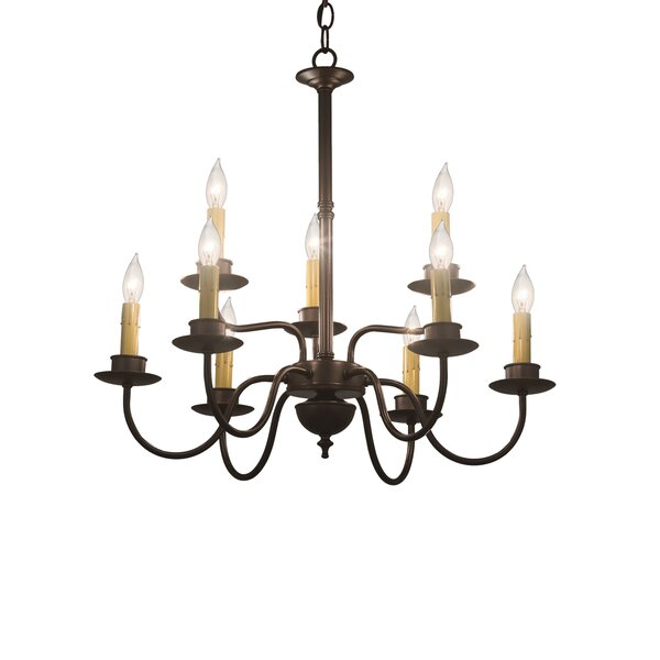 Motsinger 9-Light Candle Style Classic / Traditional Chandelier by August Grove August Grove
