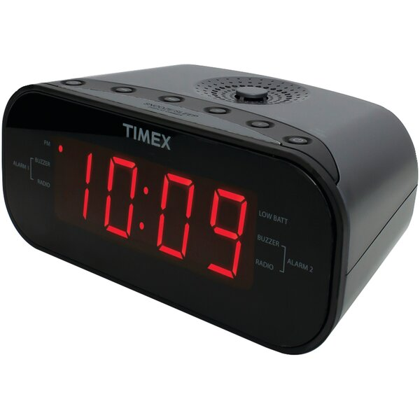 AM/FM Dual Radio Alarm Tabletop Clock by Timex
