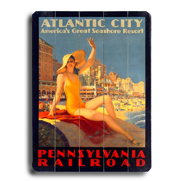 Pennsylvania Railroad Atlantic City Resort Vintage Advertisement by Red Barrel Studio