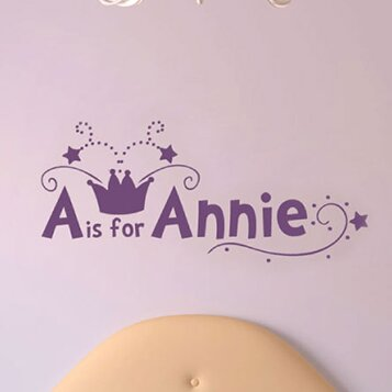 A is for Annie Wall Decal by Sissy Little