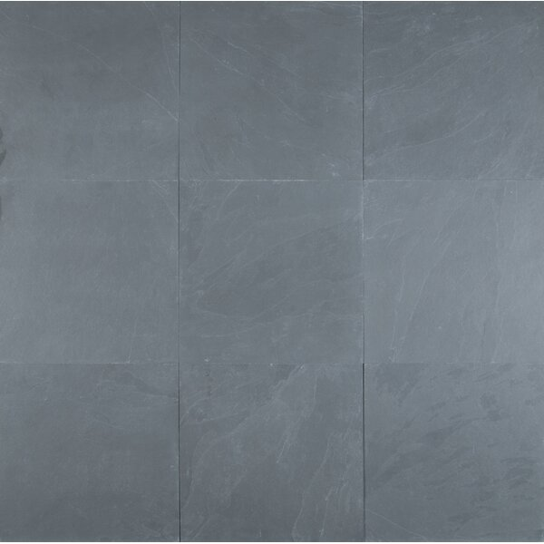 Montauk 12 x 12 Slate Field Tile in Textured Blue